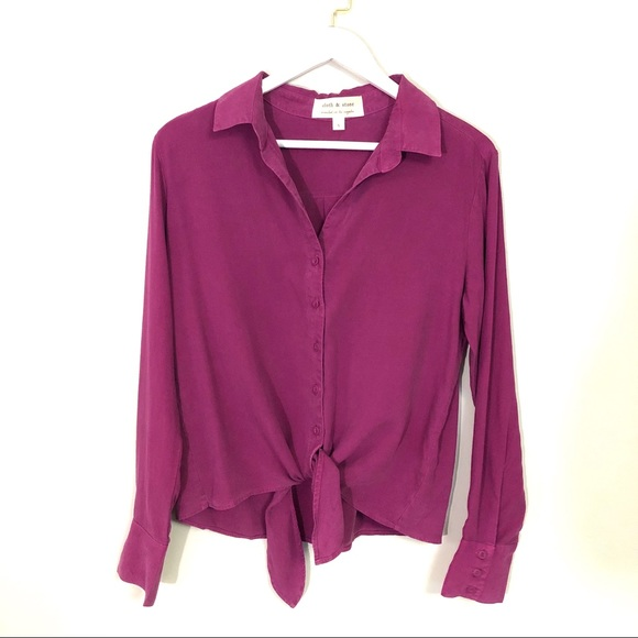cloth & stone Tops - Cloth & stone button down tie front top